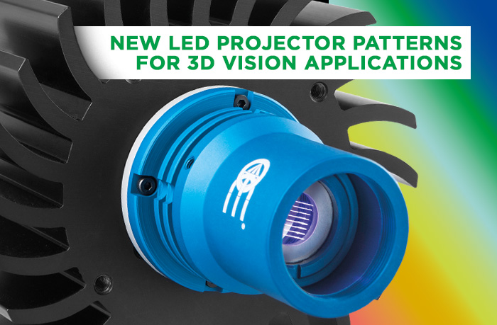 New Led Projector patterns for 3D Vision Applications