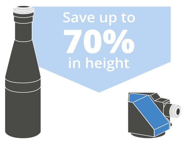 Save up to 70% in height