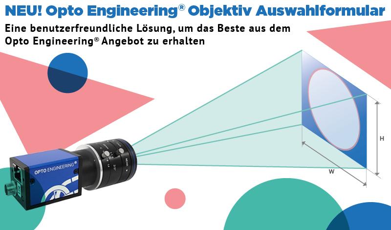 NEU! Opto Engineering Objektiv Auswahlformular