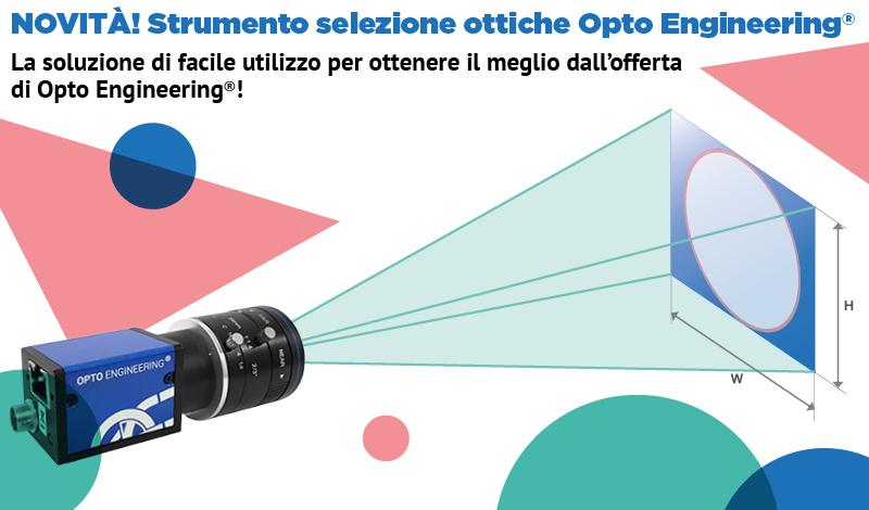 Novità! Strumento selezione ottiche Opto Engineering®