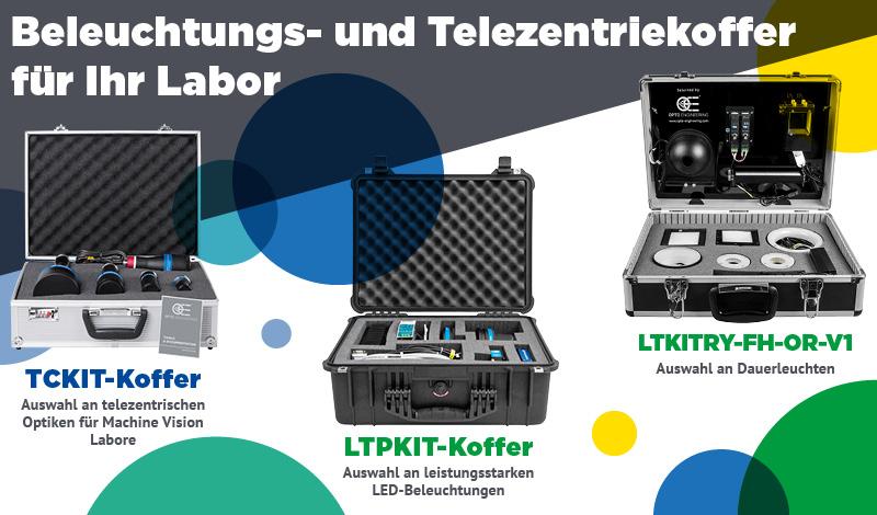 Beleuchtungs- und Telezentriekoffer für Ihr Labor