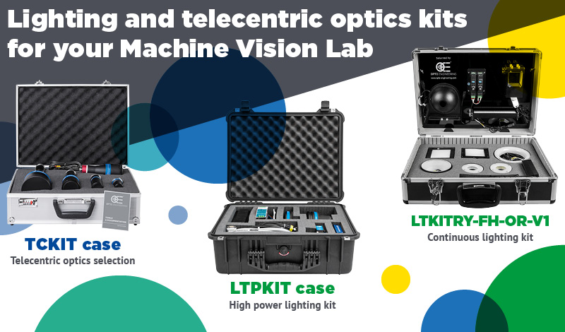 Lighting and telecentric optics kits for your Machine Vision Lab
