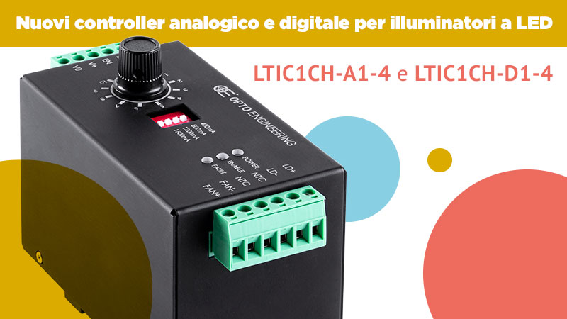 Nuovi controller analogico e digitale per illuminatori a LED