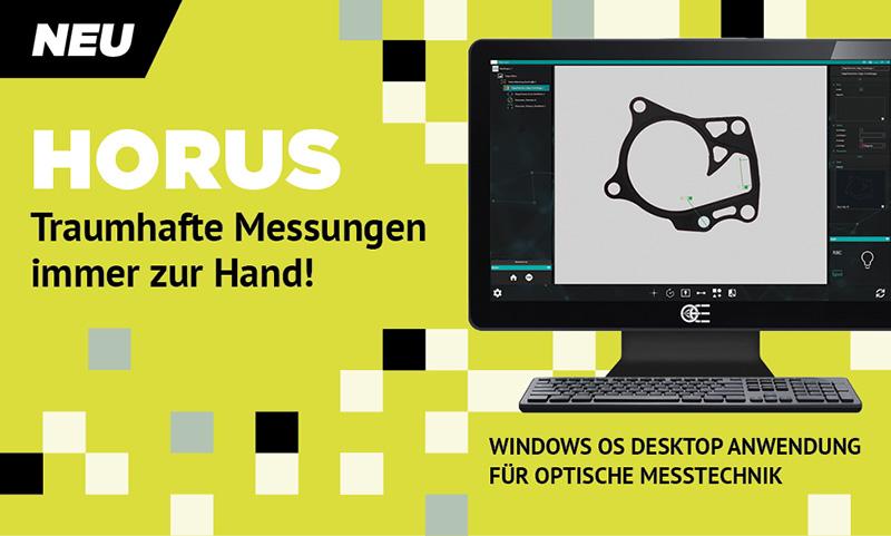 HORUS - Windows OS Desktop Anwendung für optische Messtechnik